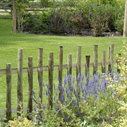 Country Fence with Castellated Top