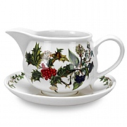 Holly & Ivy Gravy Boat & Stand