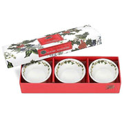 Holly & Ivy Tealight Holders Set of 3