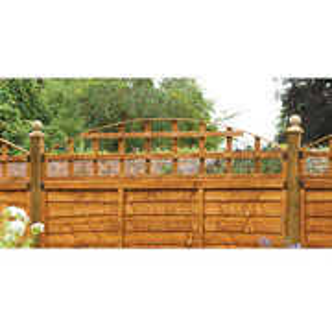 Convex Trellis Fence topper