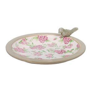 Ceramic Bird Bath - Rose