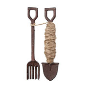Cast Iron Fork & Spade Garden String Line