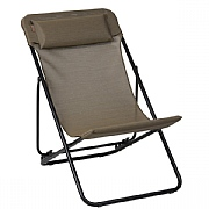 Lafuma Maxi Transat Plus Folding Deck Chair Bronze