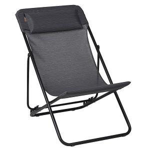 Lafuma Maxi Transat Plus Folding Dek Chair Obsidian