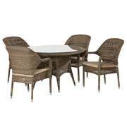 4 Seasons Outdoor Sussex 4 Seater Round Set