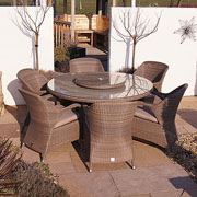 4 Seasons Outdoor Sussex 6 Seater Round Set