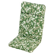 Cotswold Leaf High Back Recliner Cushion