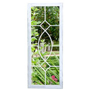 Tall Rectangular Metal Garden Wall Mirror