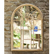 Rounded Arch Metal Garden Wall Mirror