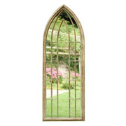 Large Arch Metal Garden Wall Mirror