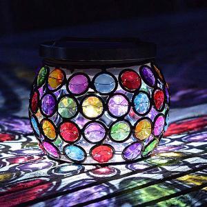 Solar Multiglow Gem Jar