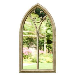 Church Window Wall Mirror Stone Effect
