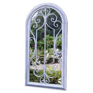 Scrolled Arch Wall Mirror Grey Wash