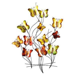 Butterfly Swarm Metal Wall Art