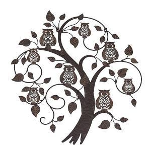 Treetop Owls Metal Wall Art