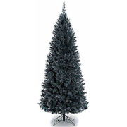 7ft Black Pencil Pine Artificial Christmas Tree
