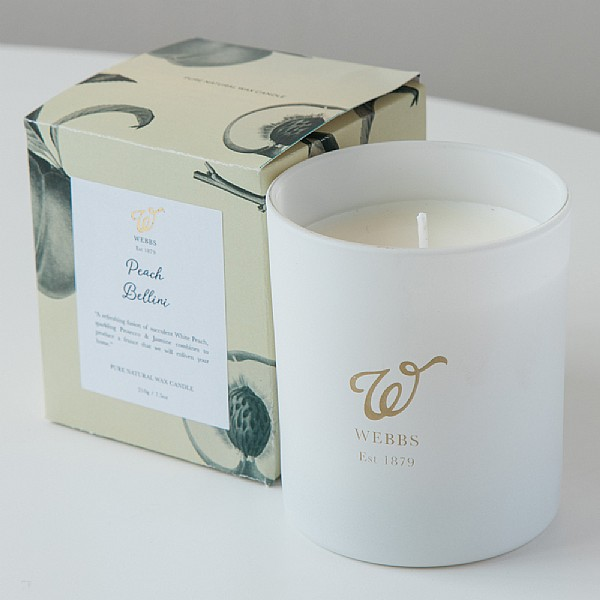 Webbs Peach Bellini Scented Candle