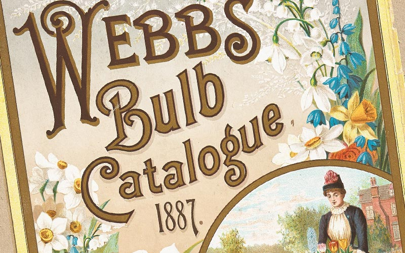 A Webbs seed catalogue from the late 1880s