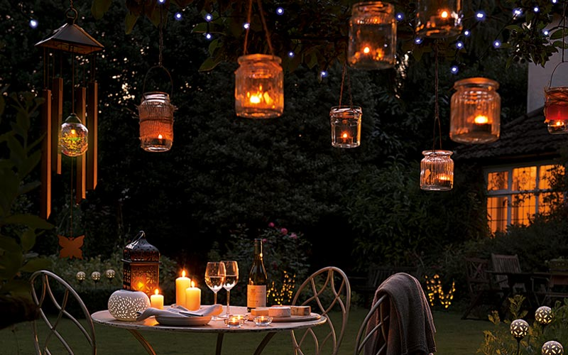 use solar lighting from webbs to bring your garden to life at night