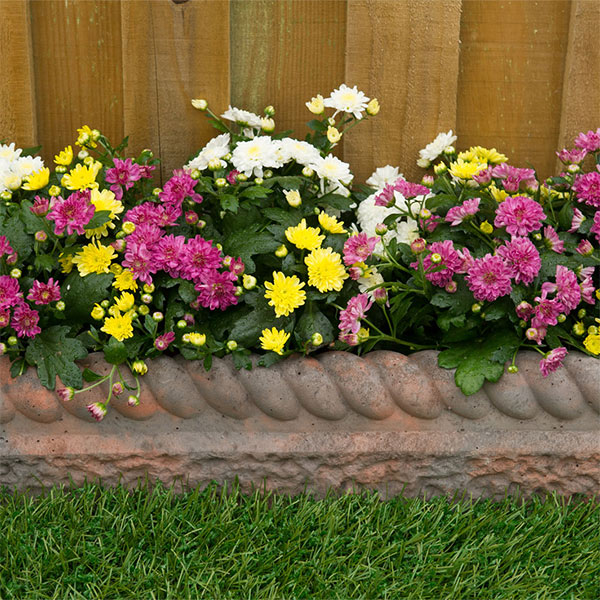 Provide a neat border with decorative edging such as Kelkay's Rope Top