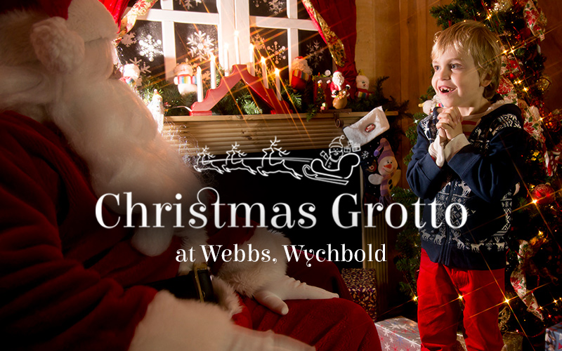 The Christmas grotto at Webbs, Wychbold