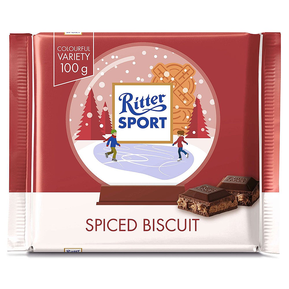 Ritter Sport Winter Bar Spiced Biscuit 100g Christmas Sweet Biscuits Cakes Webbs Garden Centre