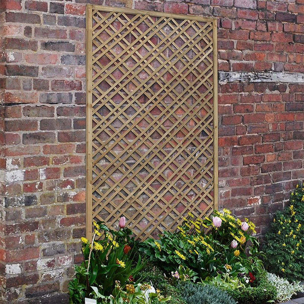 Set of 2 x 1.2m Outdoor Garden Metal Wall Trellis Panels Curved Climbing Rose Flower Frame