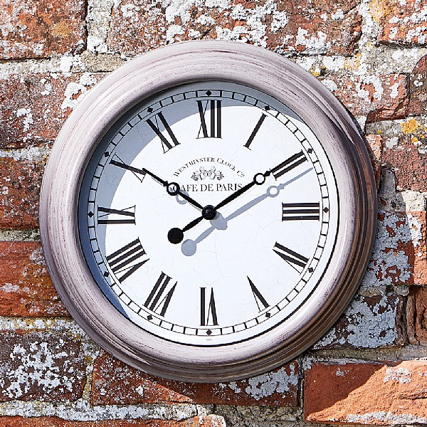 "Smart Garden Exeter Wall Clock /& Thermometer 15/""-Cream"
