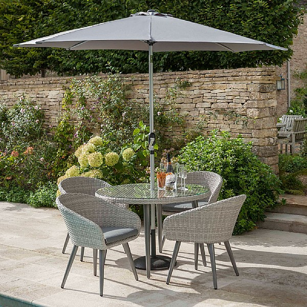 Hartman sienna 4 seater round set weave garden furniture webbs garden centre