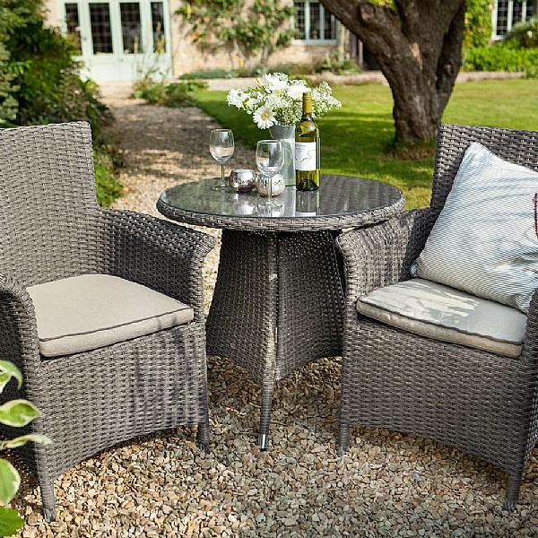 Hartman Foxton Bistro Set | Weave Garden Furniture | Webbs Garden Centre
