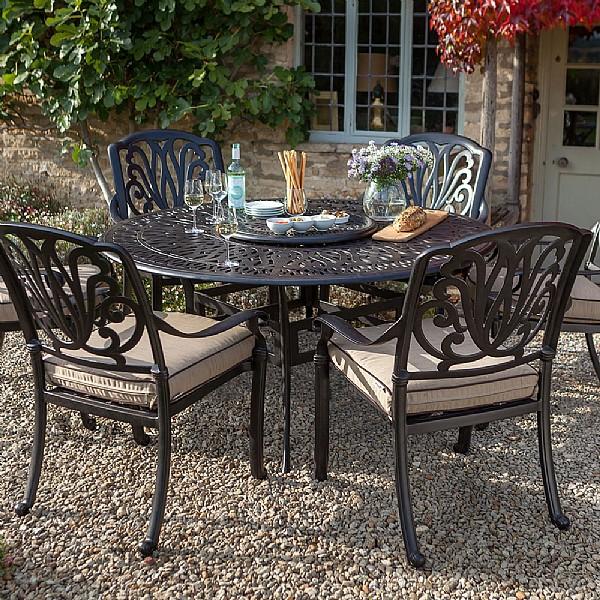 Hartman Amalfi Comfort 6 Seater Round Set | Cast Aluminium Garden Furniture  | Webbs Garden Centre