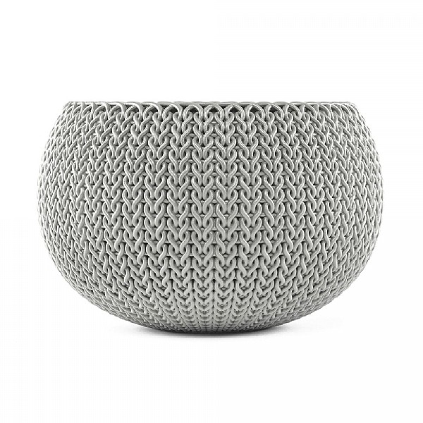 Stewart Garden Knit Collection Planter 28cm Cloudy Grey