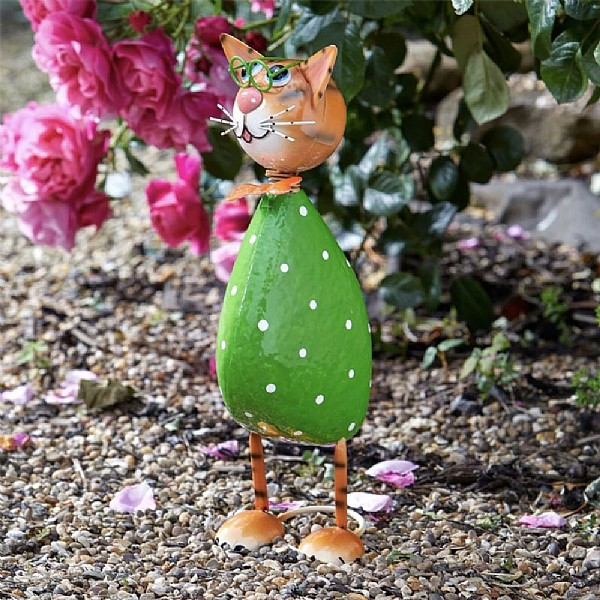 Smart Garden Spangle Cat Metal Garden Ornament Garden Ornaments