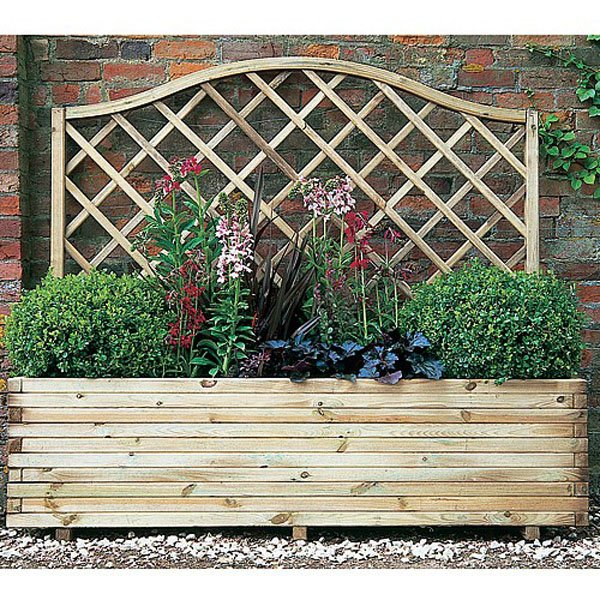 Buy Forest Garden Venice Wooden Planter With Trellis From