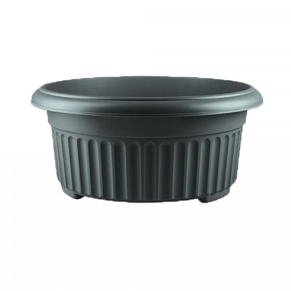 Stewart Garden Corinthian Low Planter 45cm Black Decorative