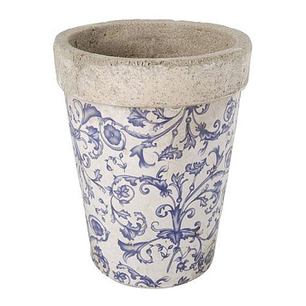 Round Ceramic Flowerpot Large Decorative Planters Webbs Direct