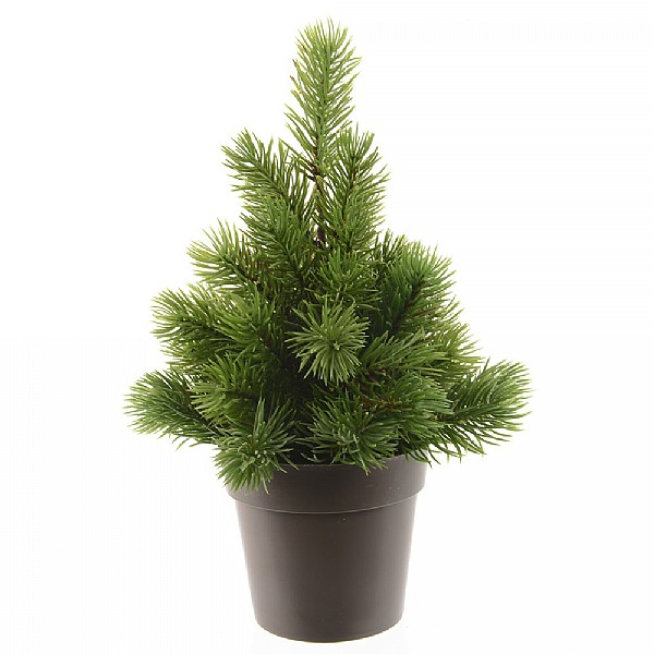25cm mini artificial christmas tree table top mini christmas trees webbs garden centre - Mini Artificial Christmas Trees