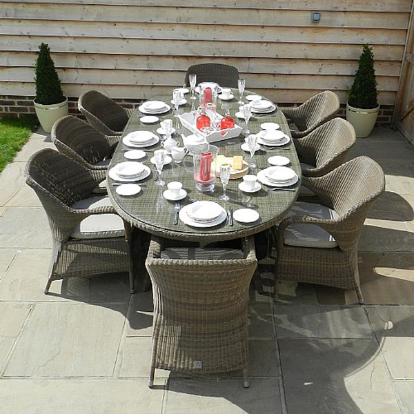 4 seasons outdoor sussex 8 seater oval set weave garden furniture webbs garden centre - Garden Furniture Kidderminster