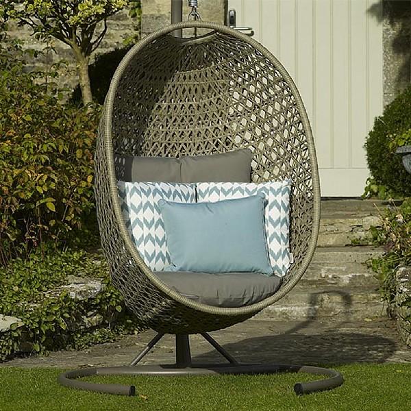 Bramblecrest Frampton Single Hanging Cocoon Seat Bramblecrest Webbs Garden Centre