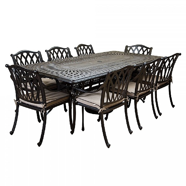 Garden Furniture 8 Seater Hartman florence 8 seater rectangular set cast aluminium garden hartman florence 8 seater rectangular set cast aluminium garden furniture webbs garden centre workwithnaturefo