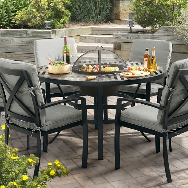 Hartman jamie oliver contemporary grilling set 4 seater cast aluminium garden furniture webbs garden centre