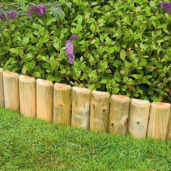 Good Forest Wooden Border Log Roll | Log Roll U0026 Border Edging | Webbs Direct  Garden Centre