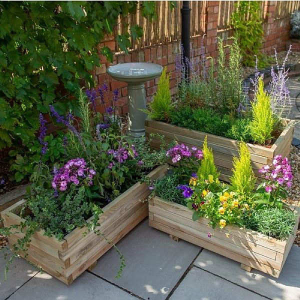 Durham Wooden Planter | Wooden Planters | Webbs Direct | Online Garden  Centre