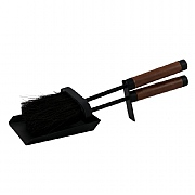 Leather Handle 2 Piece Fireside Tidy Set