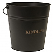 Black Fireside Kindling Bucket