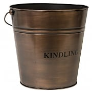 Copper Fireside Kindling Bucket