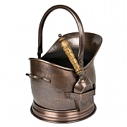 Antique Copper Fireside Coal Bucket