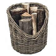 Wicker Fireside Log Basket