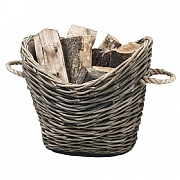 Wicker Oval Fireside Log Basket