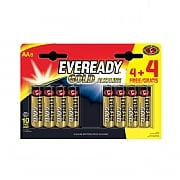 Eveready AA Gold Batteries (Pack of 4 + 4 Free)